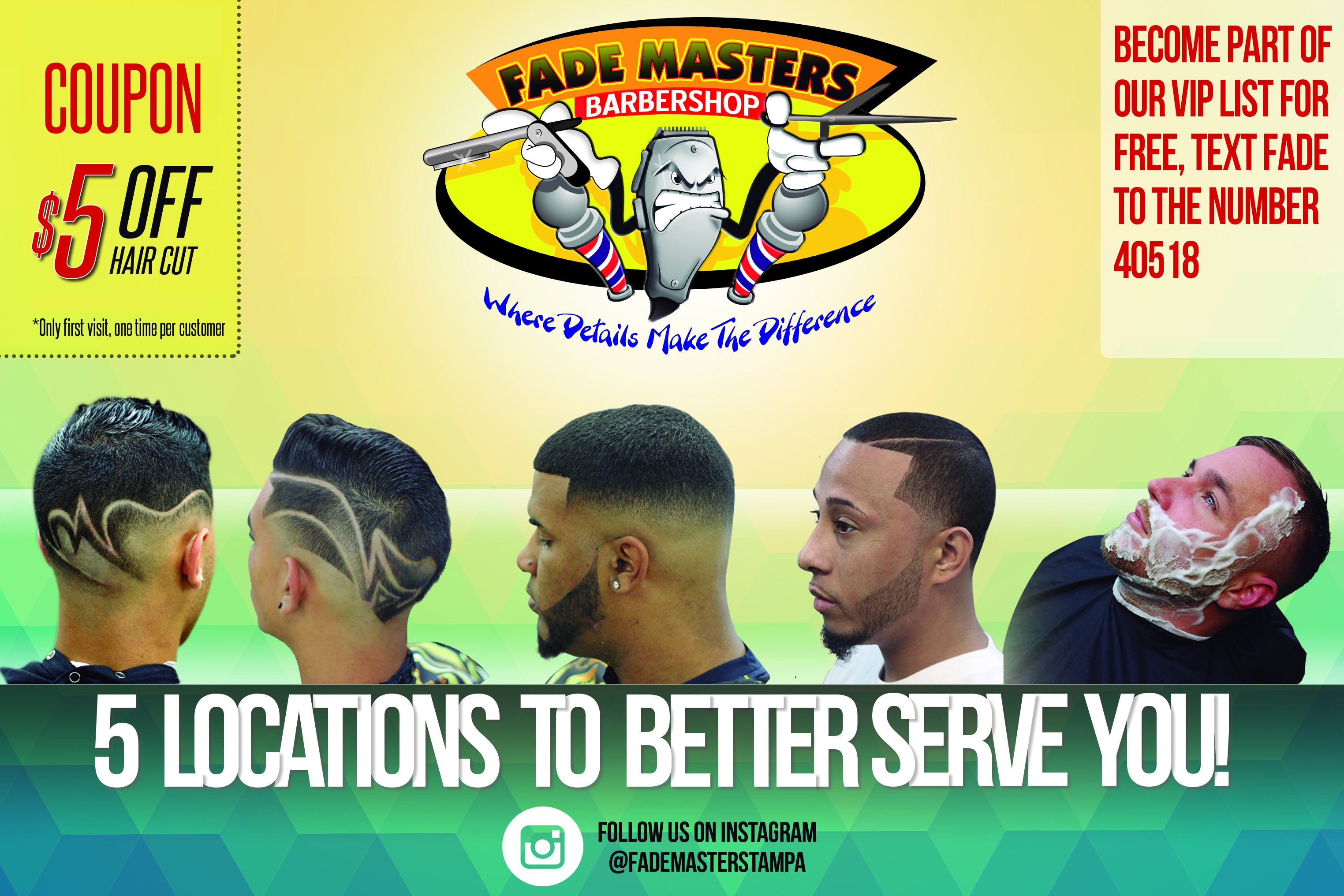 Fade Masters $5 OFF for Facebook Fans